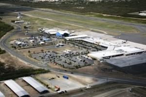 Aerial view of Saint Croix Airport Virgin Islands