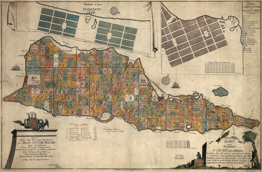 old map of st croix us virgin islands