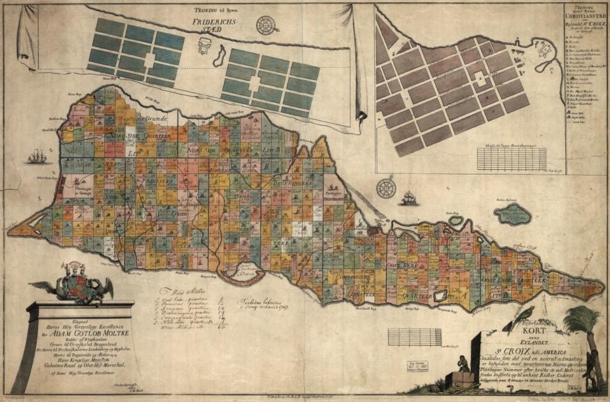 old map of st croix us virgin islands
