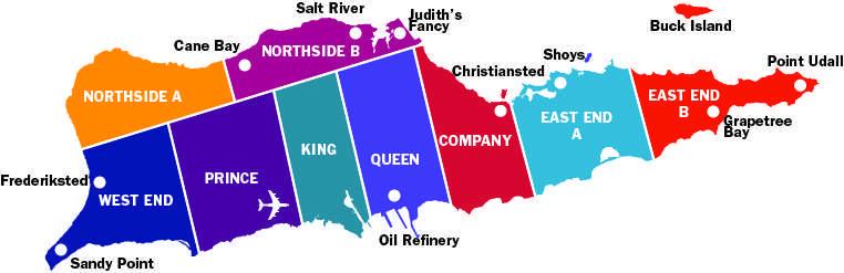 St Croix map
