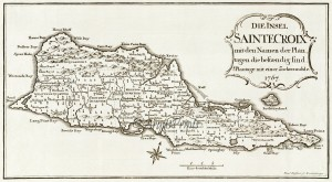old map of st croix vi