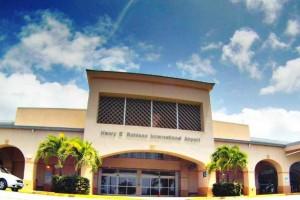 Saint Croix airport entrance USVI