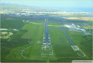 Flight simulator view of St. Croix airport US Virgin Islands