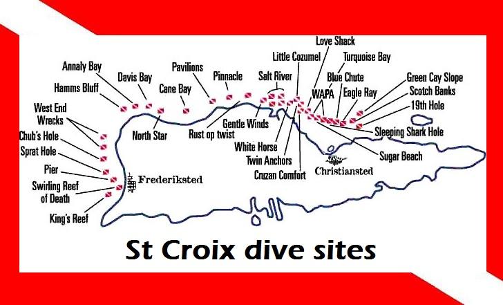 map of st croix dive sites USVI