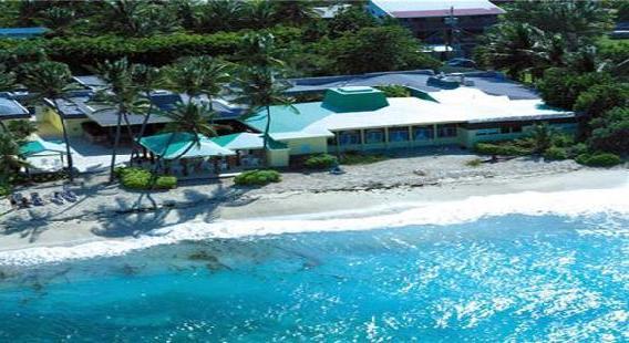 St Croix palms at pelican cove beach US Virgin Islands