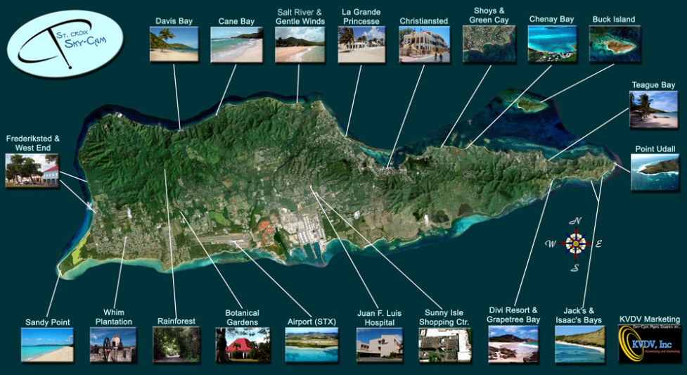 where is st croix located on a map us virgin islands