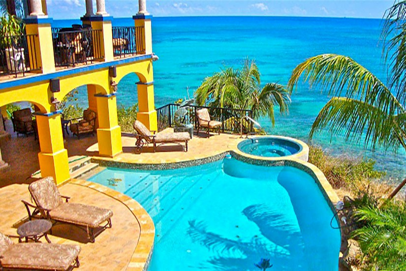 st croix real estate beachfront pool