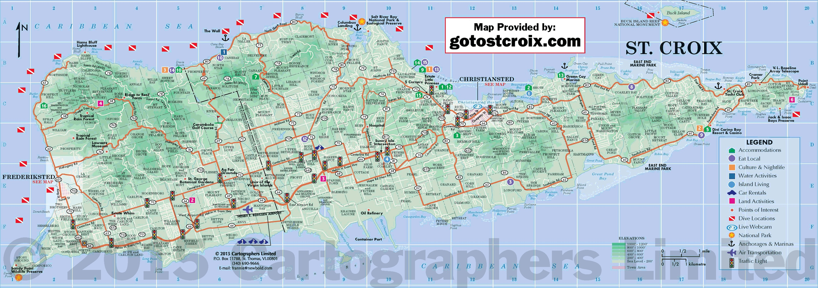 St Croix Map US Virgin Islands Map – Road Map of Up