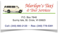 marilyn taxi st croix