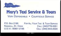 marys taxi st croix