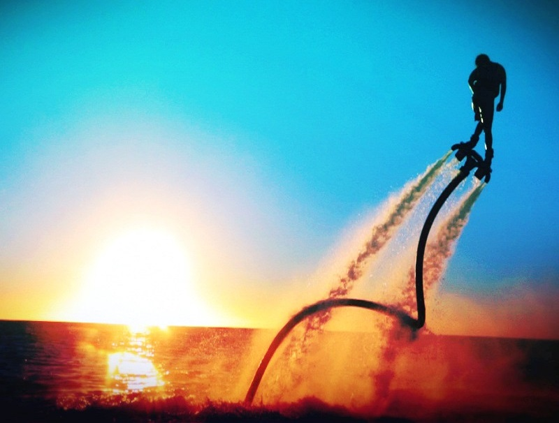 st croix fly board at sunset