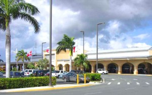 Entrance to the Henry E Rohlson airport also know as the St Croix Airport code STX in US Virgin Islands.