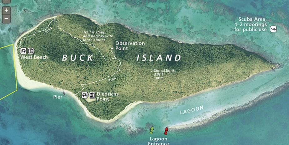 map of buck island st croix usvi