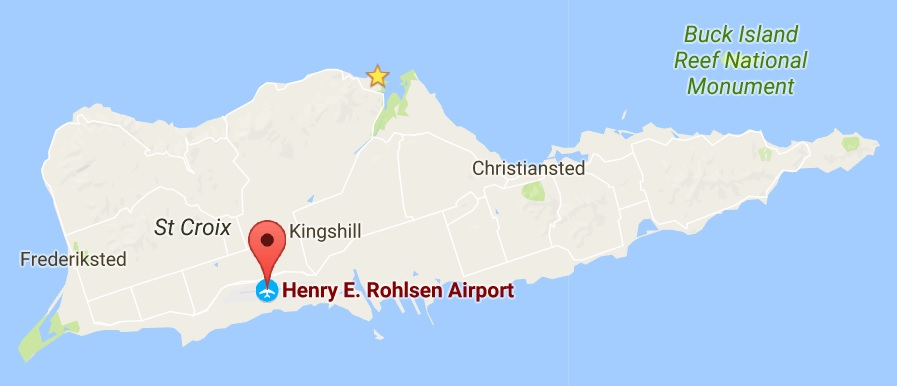 Location of St. Croix Airport