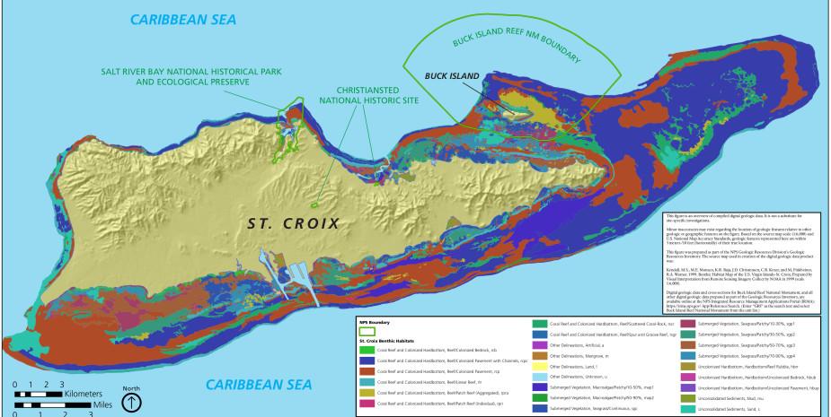 benthic map of st croix usvi