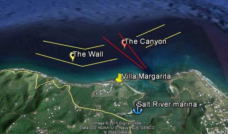 the Wall st croix scuba diving USVI